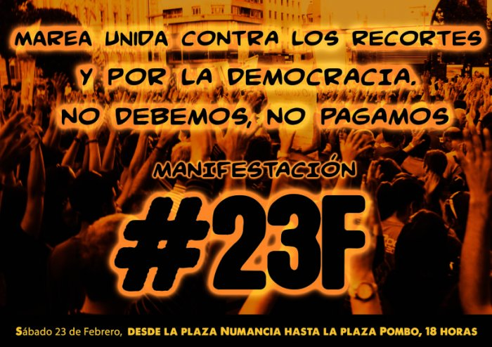 Manifestacion #23F Santander